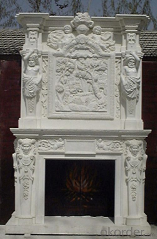 Custom Antique White Cultured Insert The Marble Fireplaces