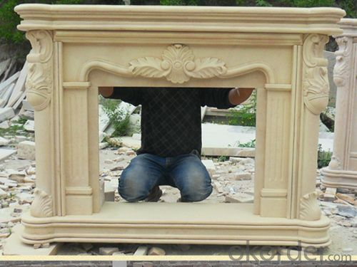 Custom Antique White Delicate Carved Marble FireplacesFireplace