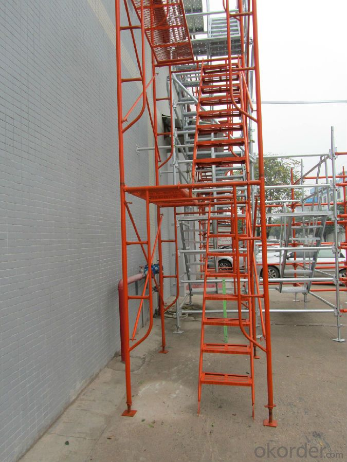 Walk  Through Scaffold/The door frame ladder