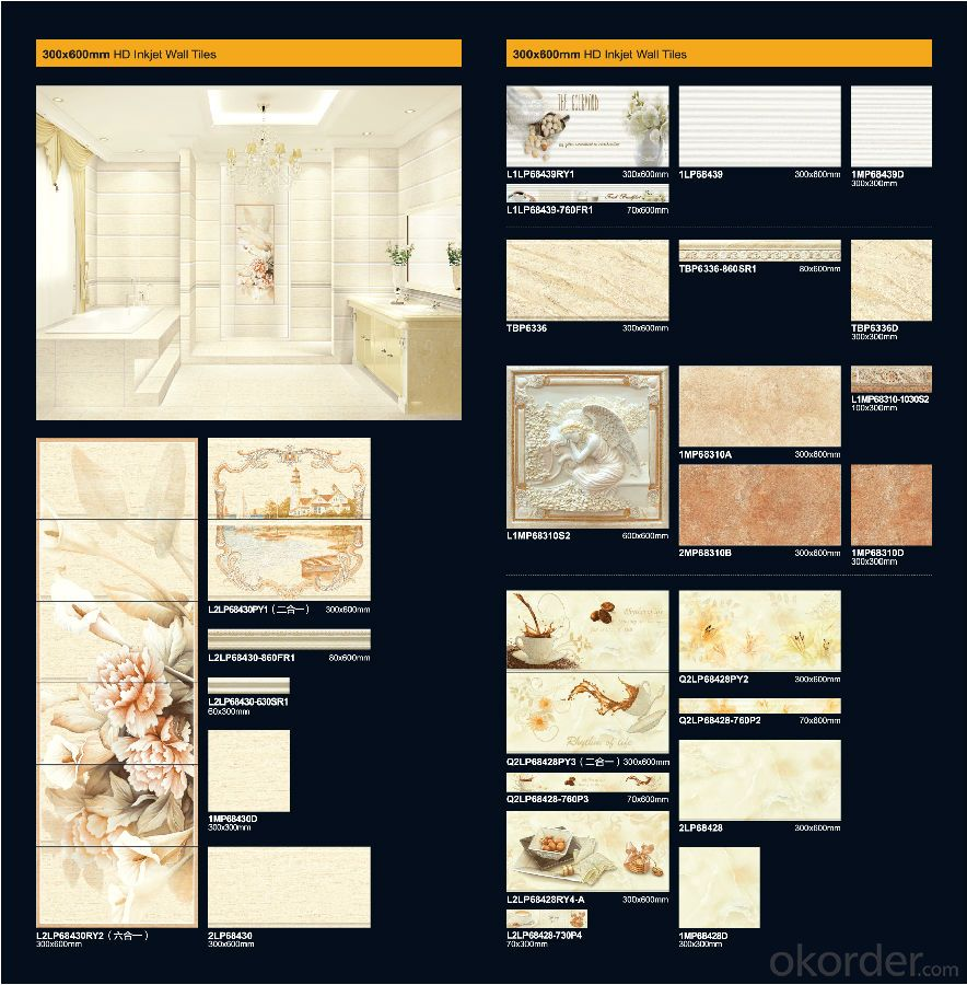 Wholesale Ceramic Tile Bathroom Wall and Floor Tiles