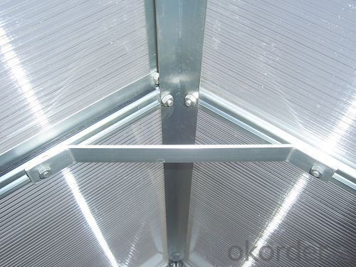 Agriculture Greenhouse Polycarbonate Sheet and Painted Steel Structure