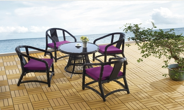 Outdoor Furniture Leisure PE Rattan Outdoor Table Chair