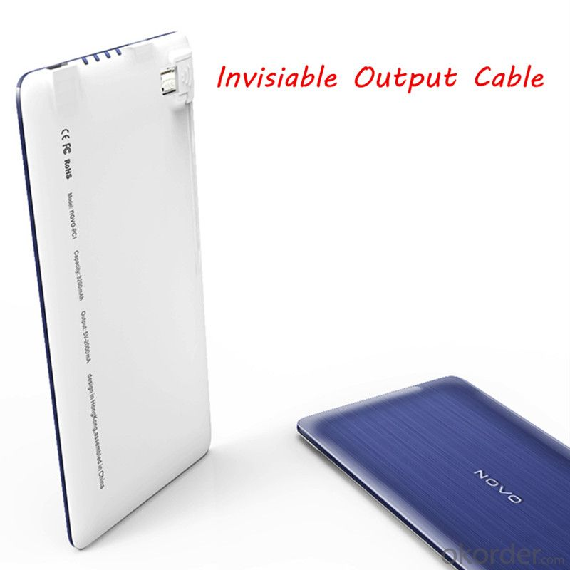 Ultra Thin 3200mAh Portable Power Bank for iPhone