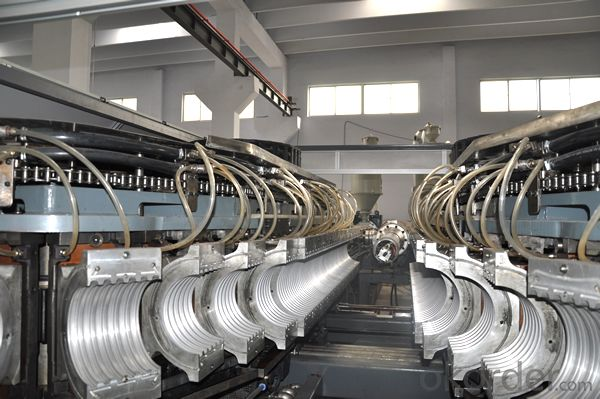 double wall corrugated pipe production line, high speed big diameter plastic pe pipe product line