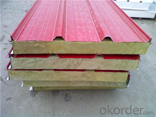 large roof wall color steel composite and modified phenolic fireproofing thermal insulation sandwich board
