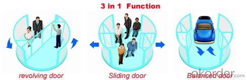 2 wings automatic revolving door for hotel, CE UL GOST ISO9001 certificate