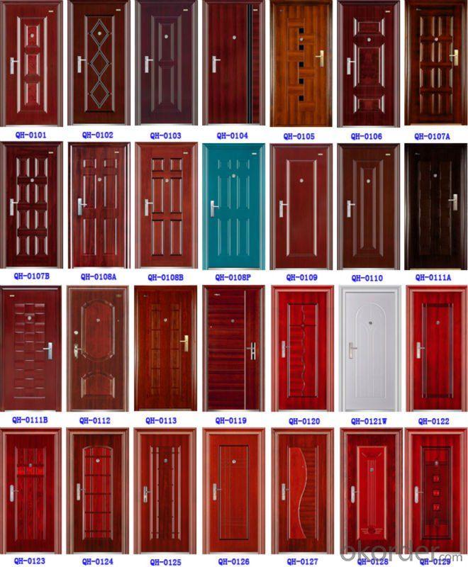 CE Exterier fireproof steel security door (QH-0214)(H.S. code:73083000)