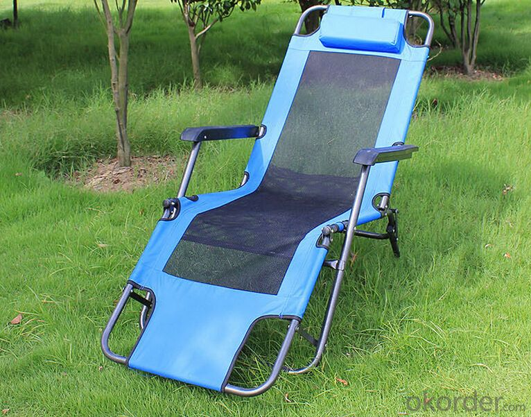 Outdoor Portable Aluminum Folding Picnic Recliner Chair  with Table