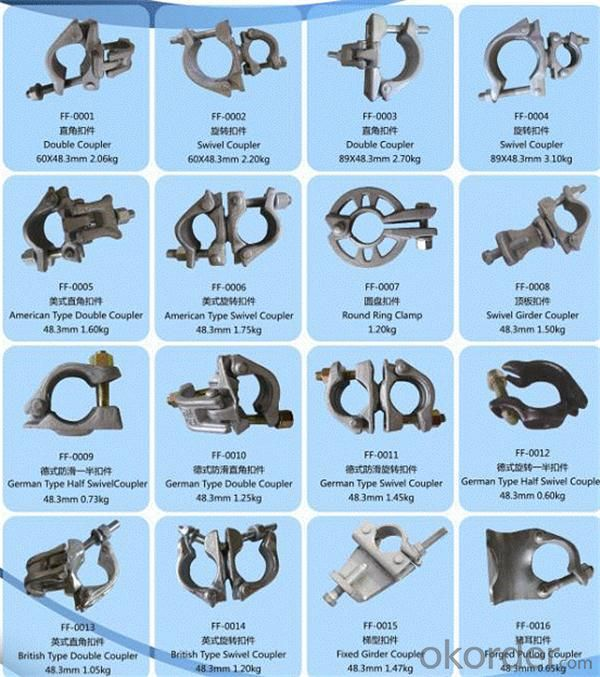 Buy Forged Scaffolding Clamp Swivel Coupler Price Size