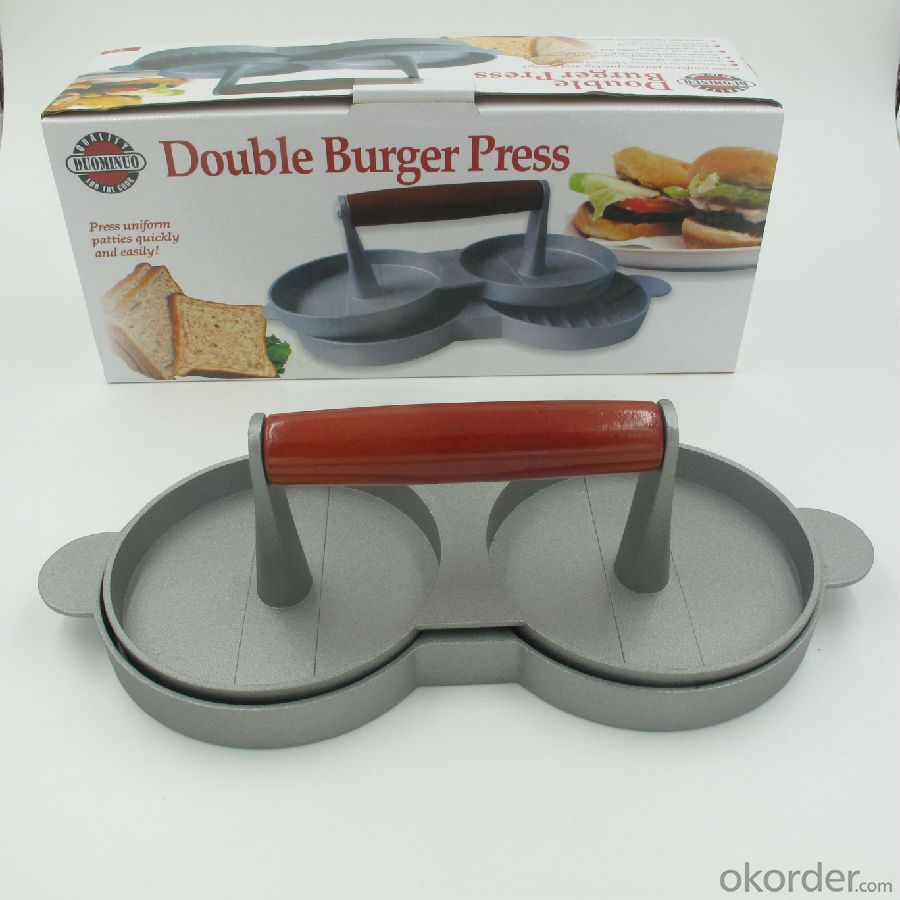 Double Cast Iron Hamburger Grill Press for Meat  Good quanlity