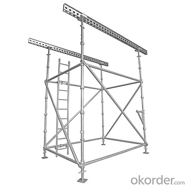 High Quality Cuplock System Scaffolding with Hot Dip Galvanized Surface Treatment