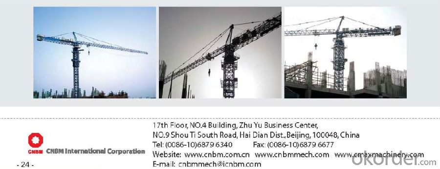TC7021 tower crane/ tower crane with CE ISO certificate
