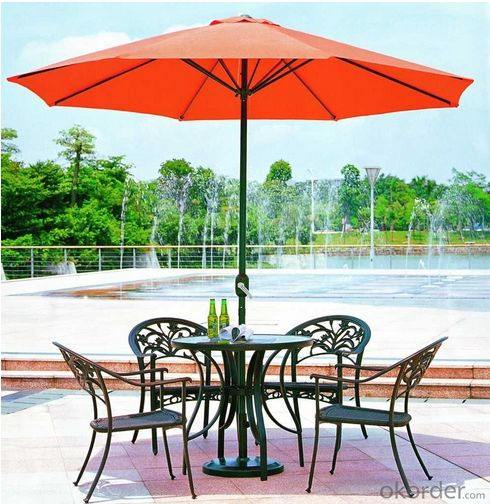 Outdoor Furniture Aluminum PE Wicker Rattan Outdoor Garden Table Set