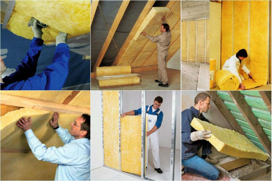 glass wool heat insulation, sound proof and fireproof material