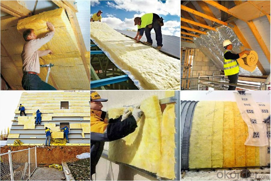 Fireproof Glasswool / Glass wool insulation