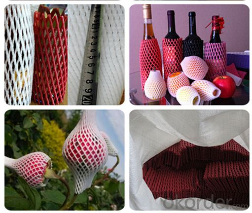 White Foam Sleeve Net for Fruit or Flowers