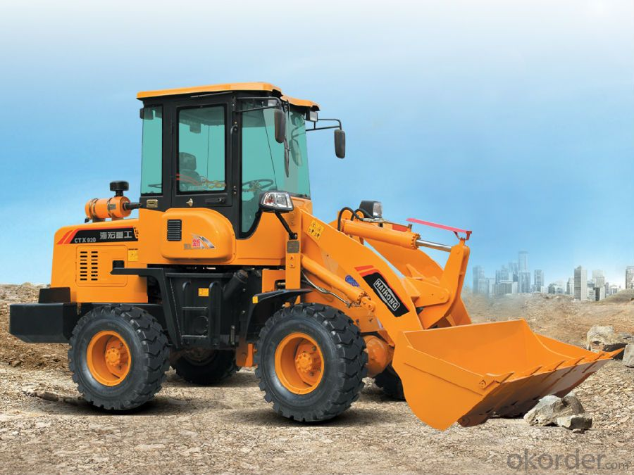 construction machine Haihong CTX920 wheel loader, cheap wheel loader
