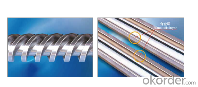 Bimetallic Screw And Barrel For Plastic Extruder Machine