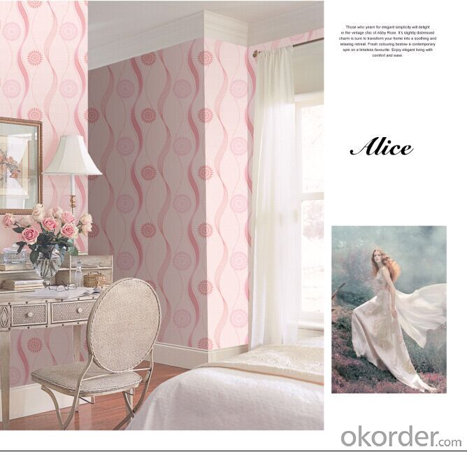 Non-woven Wallpaper Decorative Flower Home Decoration Wallpaper