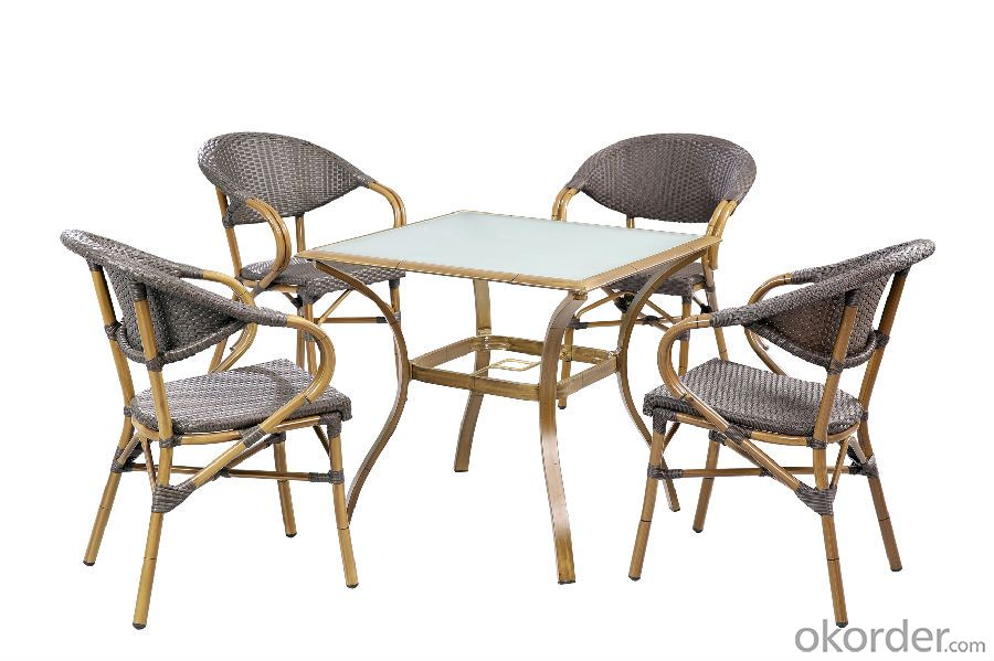 Outdoor Rattan Dining Table with Chair for Garden CMAX-SC013
