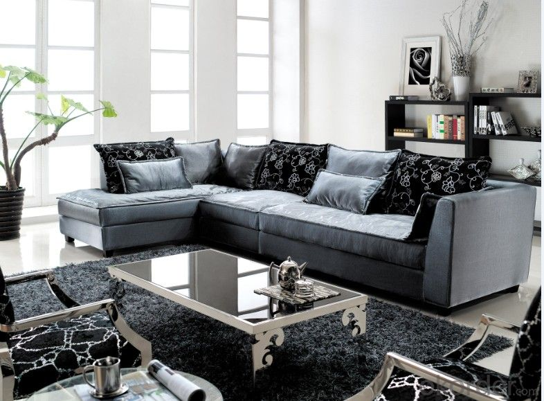 Classic Leather Chaise Sofa for Living room