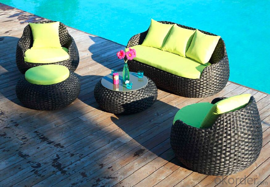 Round Grey RattanGarden Sofa  for Outdoor Furniture CMAX-SS006MYX
