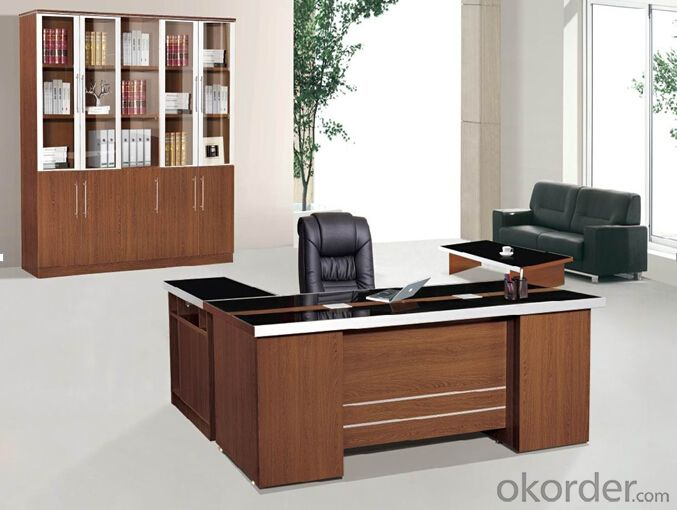 Office Table/Commerical Desk Classical Boss Table Solid Wood/MDF/Glass with Best Price CN805