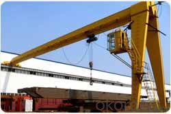 Single girder semi gantry crane used in warehouse or workyard