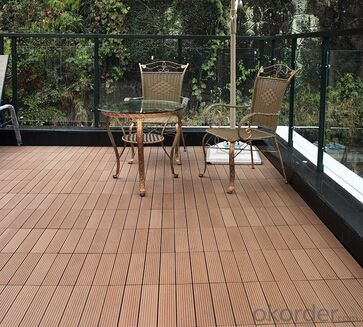 Rubber wood floor decking for outdoor made in China