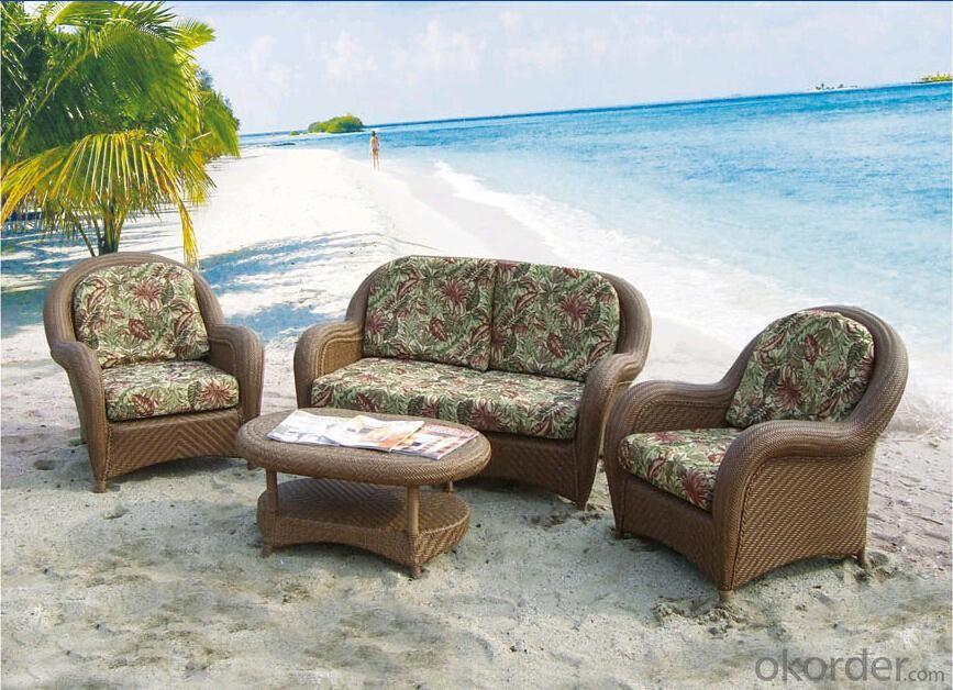 Outdoor Furniture Leisure Garden PE Rattan 4 Pcs Sofa Sets With Cursion