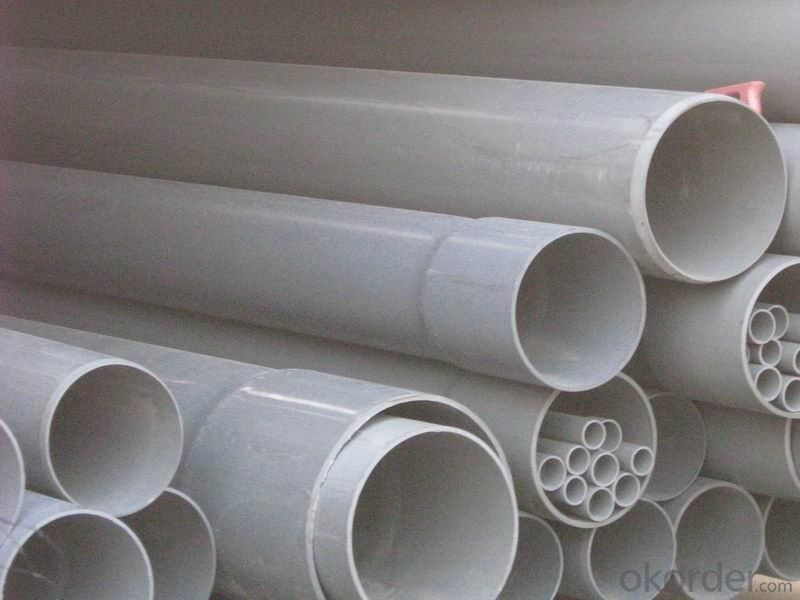 PVC Pipe   redWall thickness:1.6mm-26.7mm Specification: 16-630mm Length: 5.8/11.8M Standard: GB