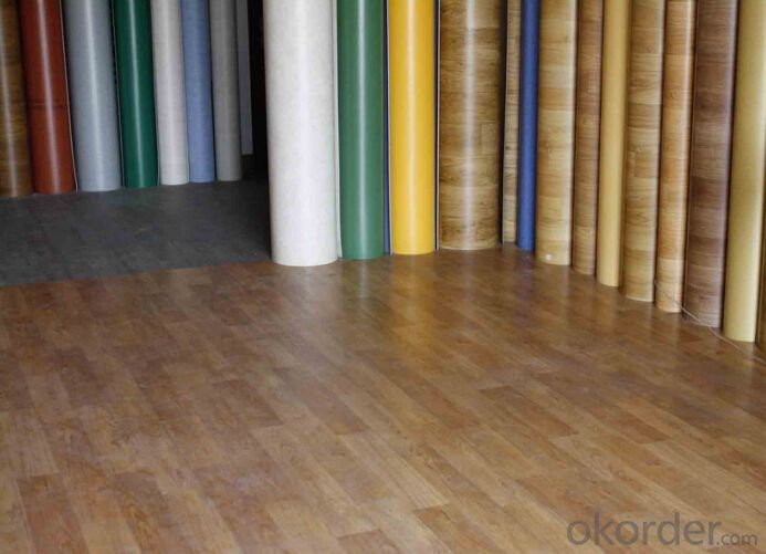 pvc plastic flooring/floor vendor of home depot/wood grain vinyl flooring