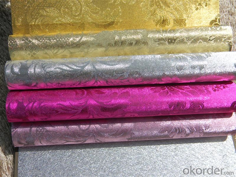 Metallic Wallpaper Bedroom Decoration 2015  PVC Wallpaper