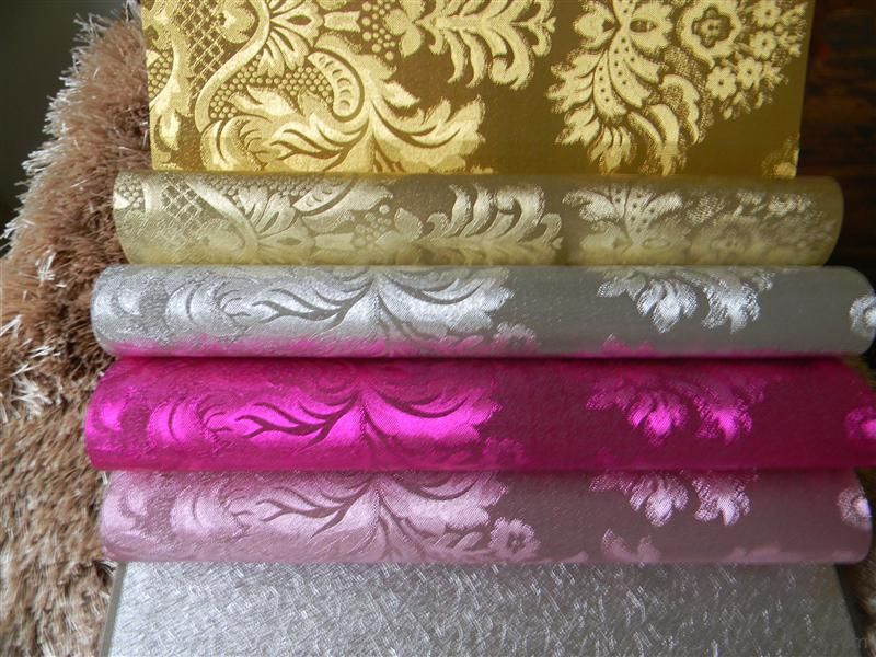 Metallic Wallpaper Bathroom Decoration Classic Damask Wallpaper