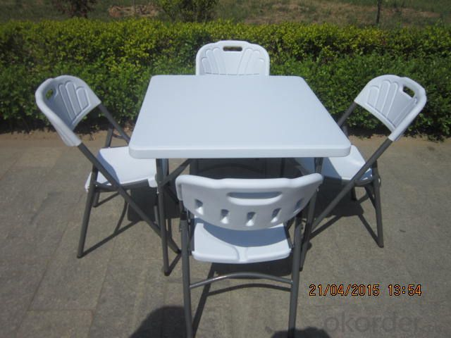 Outdoor Folding Table, Adjustable Height and Multi-function