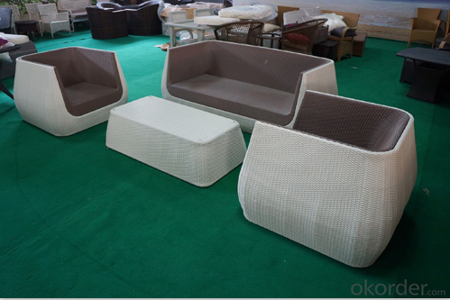 Garden Sofa sets with Colorful Waterproof Cushion for Outdoor Furniture Garden Patio CMAX-SS004CQT
