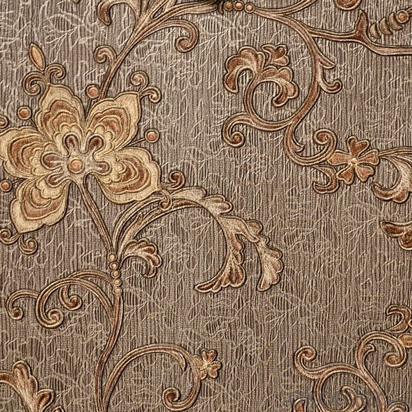 Wallpaper deep embossed PVC vinyl for decoration in Barca 3201 series