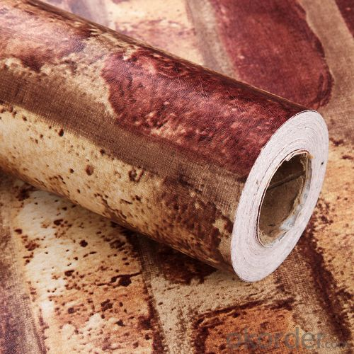 Self-adhesive Wallpaper 2015 New Arrival Decorative 3d PVC Wallpaper