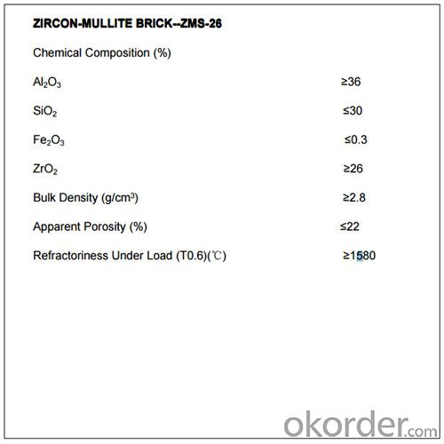 Erosion Resistance Zircon Mullite Brick High Temp Bricks