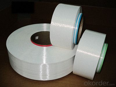 Raw White Plastic Nylon Filament Blended Yarn