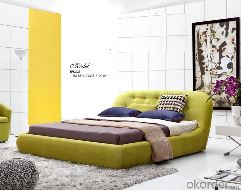 Bedroom Soft Fabric Bed with Modern Design