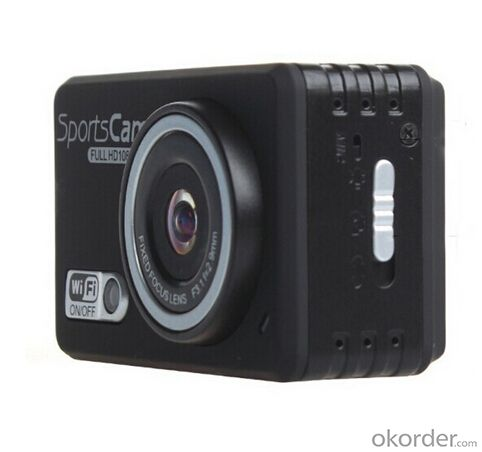 1080P 60aps Action Camera with 2.4GHz Water Proof Watch Remote Control