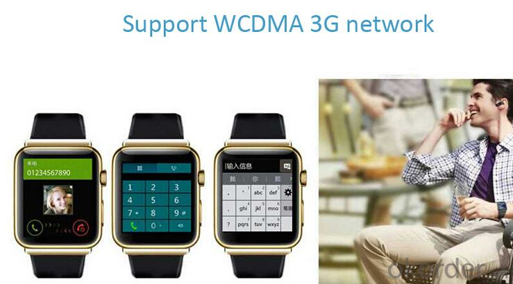"Smart Phone Watch Android 4.4 System 1.54"" TFT~OLED Touch Screen, 320*320 Resolution"
