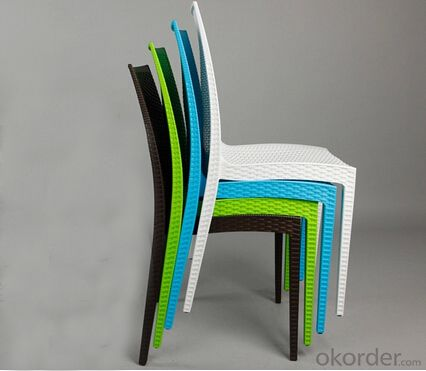 Plastic Chair,Rattern Design and Outdoor Use