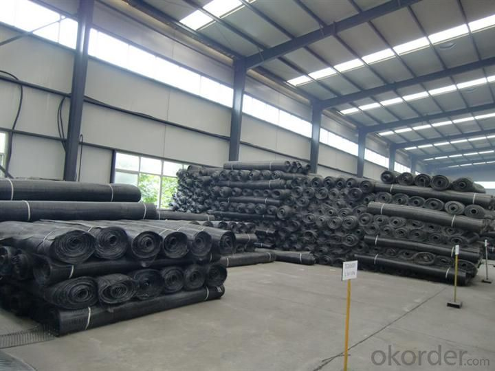 Warp Knitted Polyester Geogrid With Ce For Construction