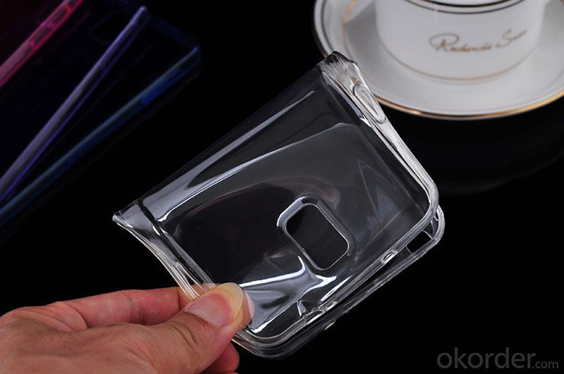 Cellphone Ultra Thin Transparent Soft Silicone Case for Galaxy Note 3