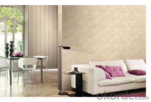 PVC Wallpaper Modern Style  Waterproof PVC Wallpaper for Bedroom Use