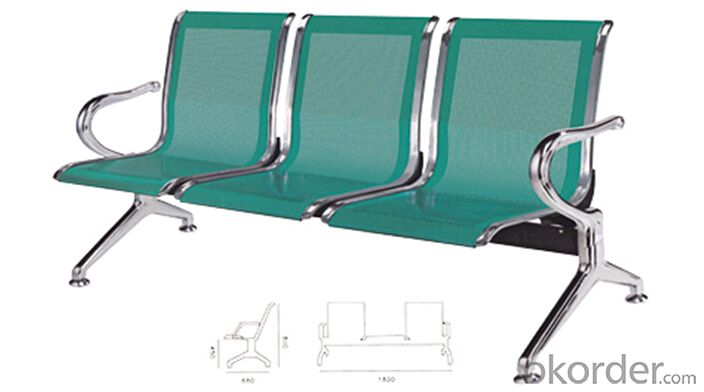 Public Waiting Chair 3 Seats Design for Airport