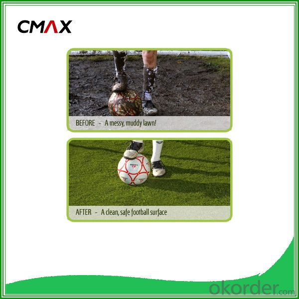 55 mm Artificial Grass for Football with Synthetic Carpet