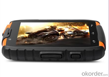 4.0 inch Orange Tough Military Custom Android Mobile Phone Best Rugged Bar Phone